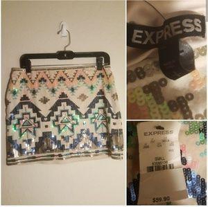Express sequin skirt new